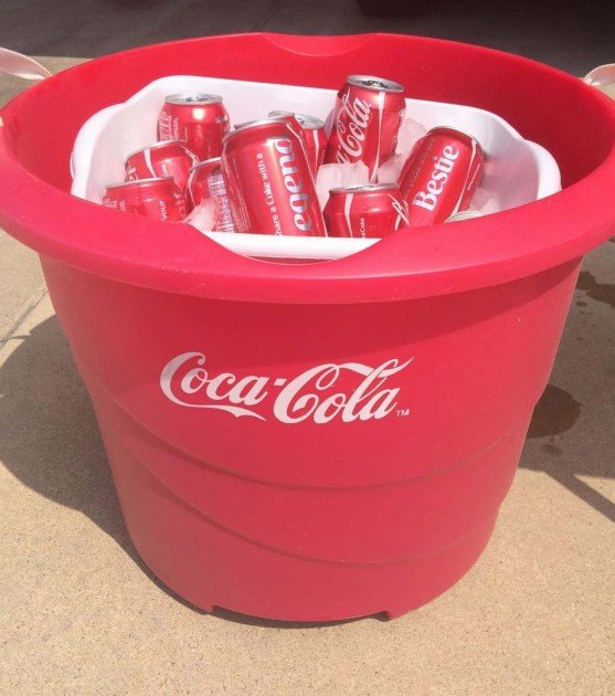 #ShareYourSpirit with an At Home Tailgate - Coke Bucket