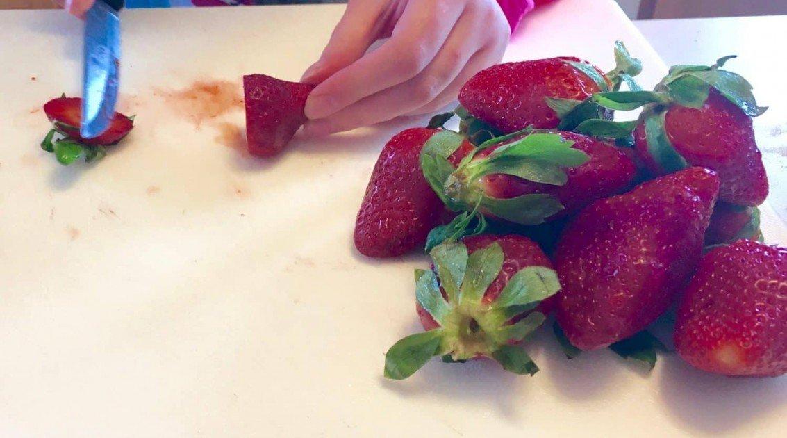 Slicing Strawberries