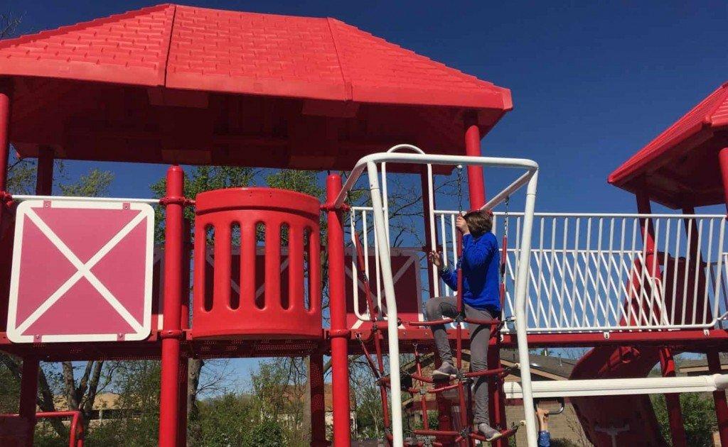 County Farm Park Playground Profile - Climbing