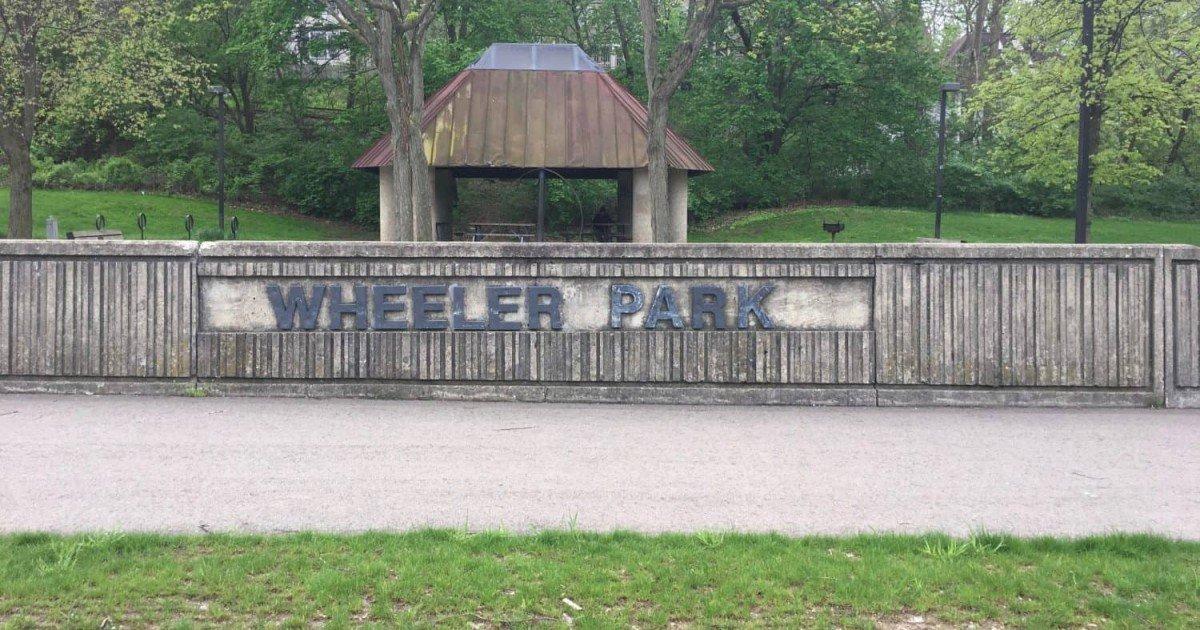 Wheeler Park - Tuesday Playground Profile - Sign & Pavilion