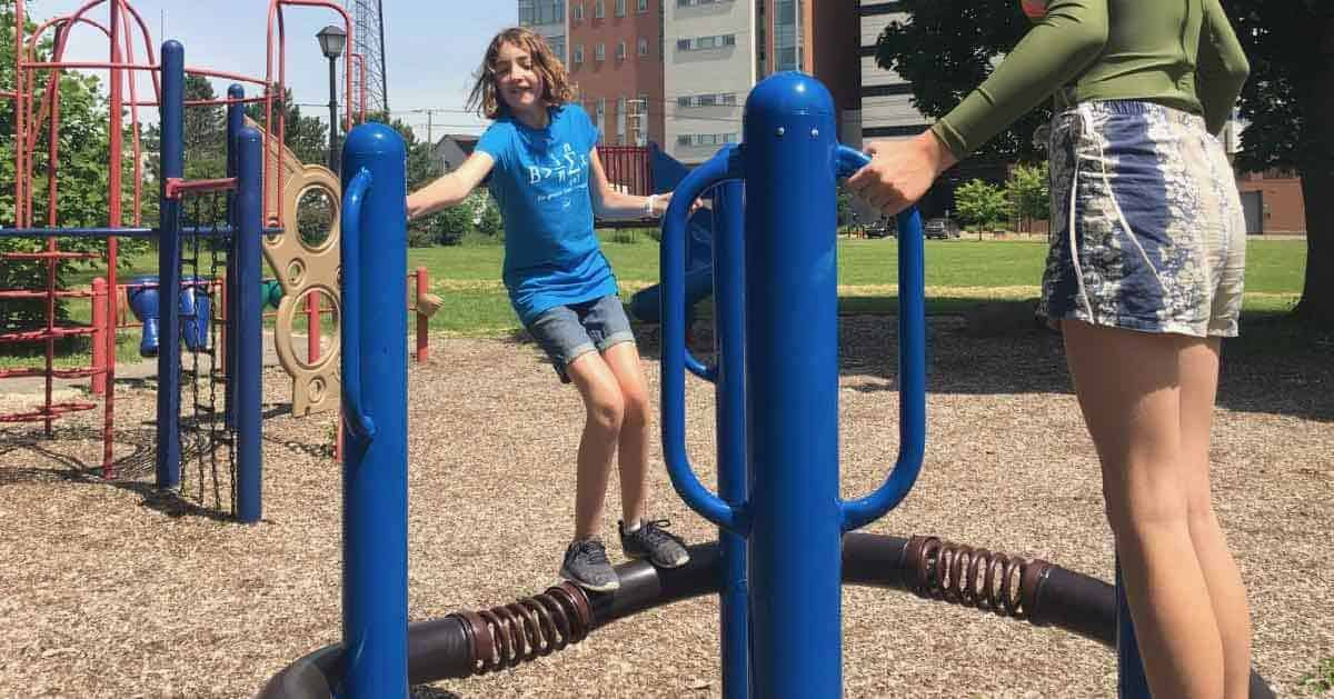 Ann Arbor Riverside Park - Bouncing Pipe