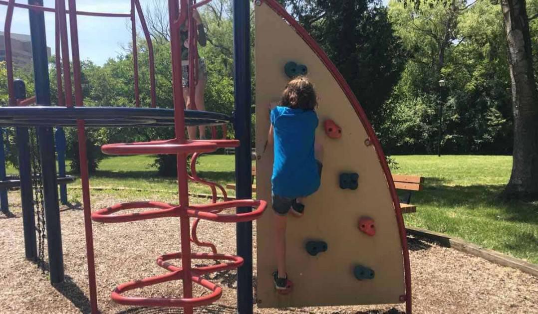 Ann Arbor Riverside Park - Climbing Wall
