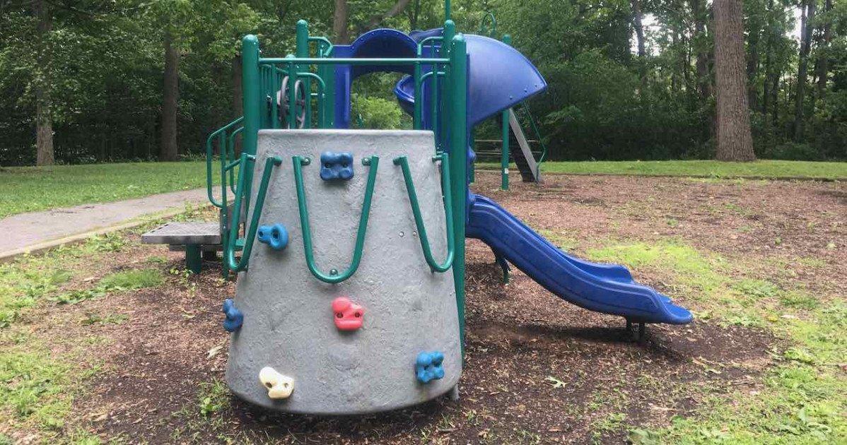 Ann Arbor's Fritz Park Playground Profile - Rock Wall