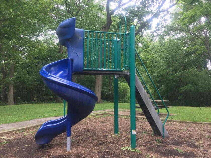 Ann Arbor's Fritz Park Playground Profile - Slide