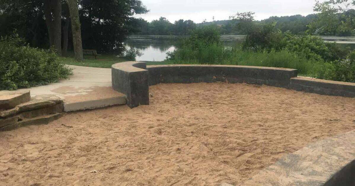 Gallup Park Centennial Playground - Sand Box