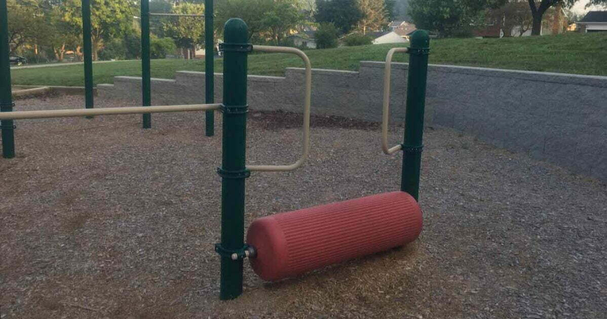 Huron Highlands Playground - Log Roller