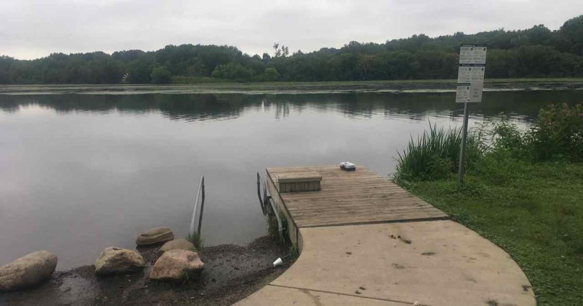 Playground for Splashing - Gallup Pond Dock by Centennial Playgorund