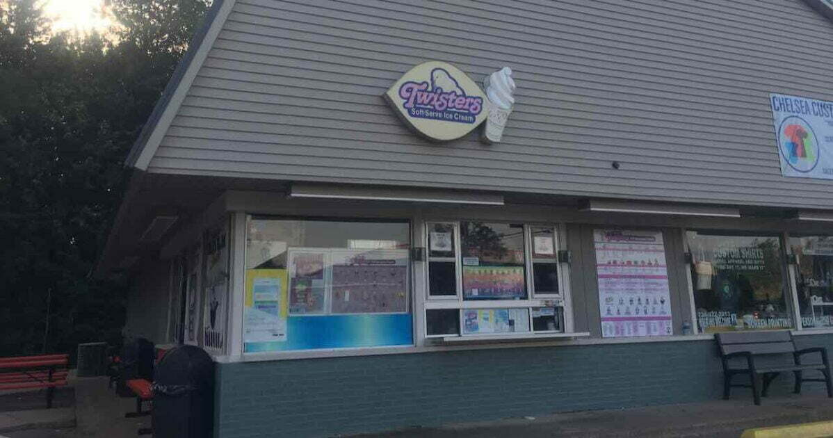 Twisters Ice Cream Located next to Pierce Park
