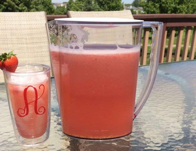 Strawberry Mint Agua Fresca - Ready to Enjoy