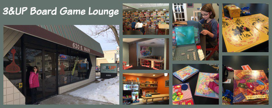 3&Up Board Game Lounge Collage
