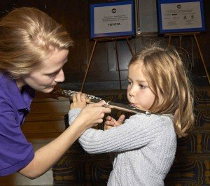 Ann Arbor Symphony Orchestra Instrument Petting Zoo Flute