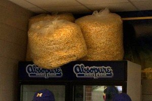 Popcorn at Michigan Stadium Concession Stand