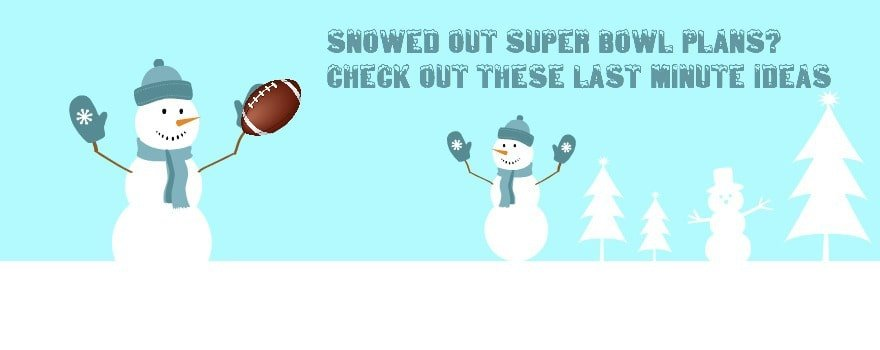 Snowy Super Bowl Party