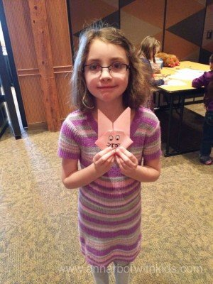 Toledo Zoo Easter Bunny Breakfast Craft - Bunny Origami