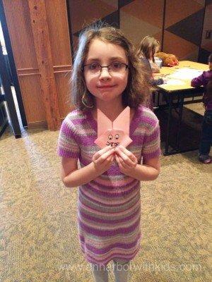 Toledo Zoo Easter Bunny Breakfast Craft - Bunny Origami