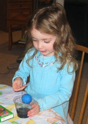 Easter Egg Dyeing 2009