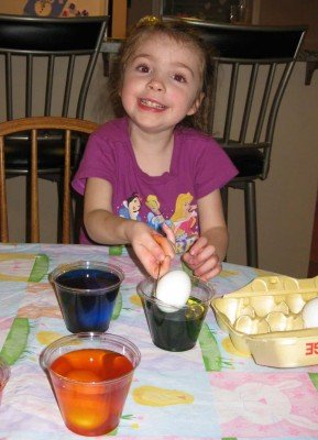 Easter Egg Dyeing 2010