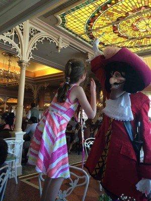 Disneyland - Captain Hook Holds her Pen Hostage