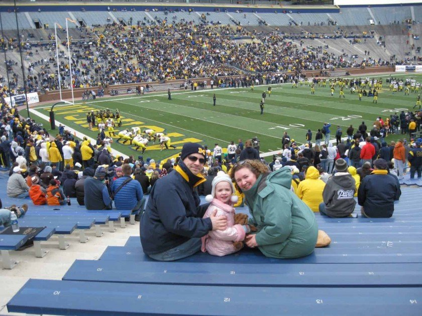 Michigan Football Spring Game 2010 In the Stands