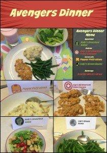 Meijer Avengers Dinner Collage