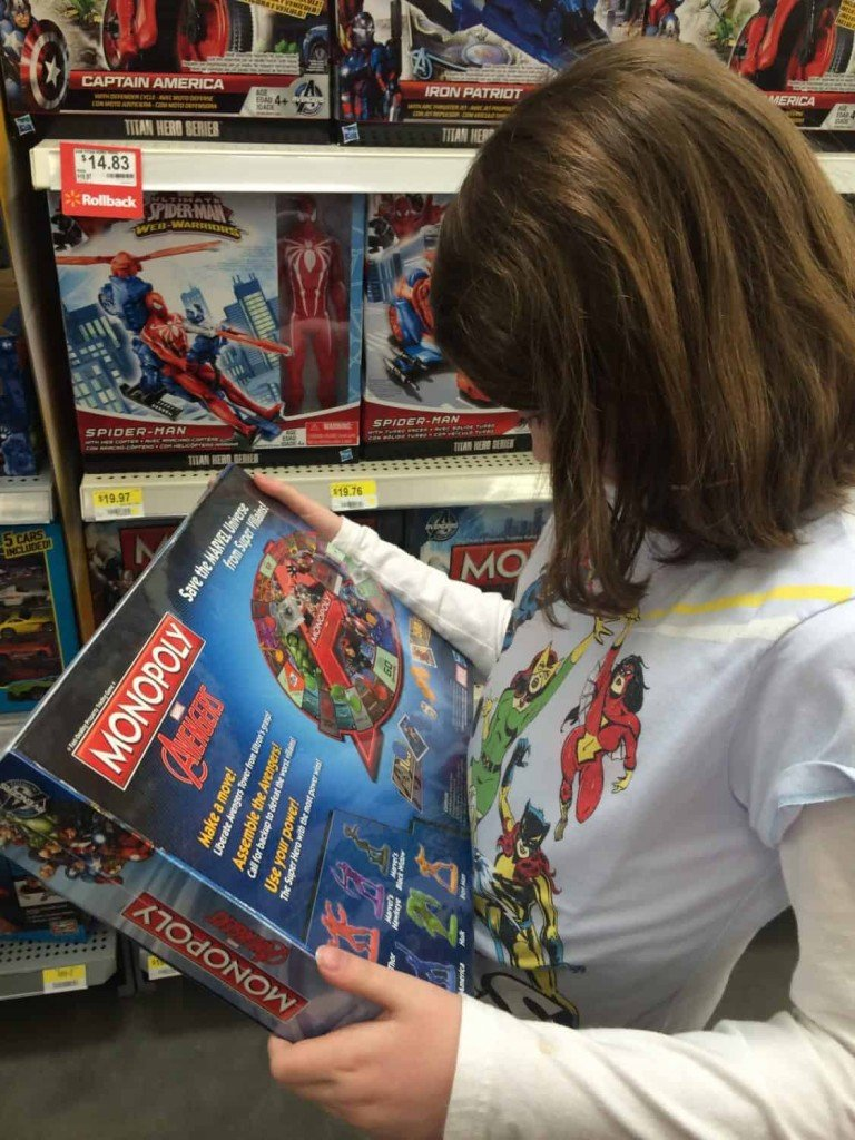 Girls Love Avengers Monopoly Shopping