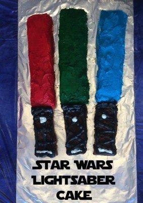Star Wars Lightsaber Cake