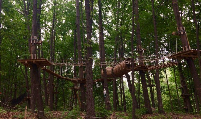 The Adventure Park in West Bloomfield - Just a small part of the park