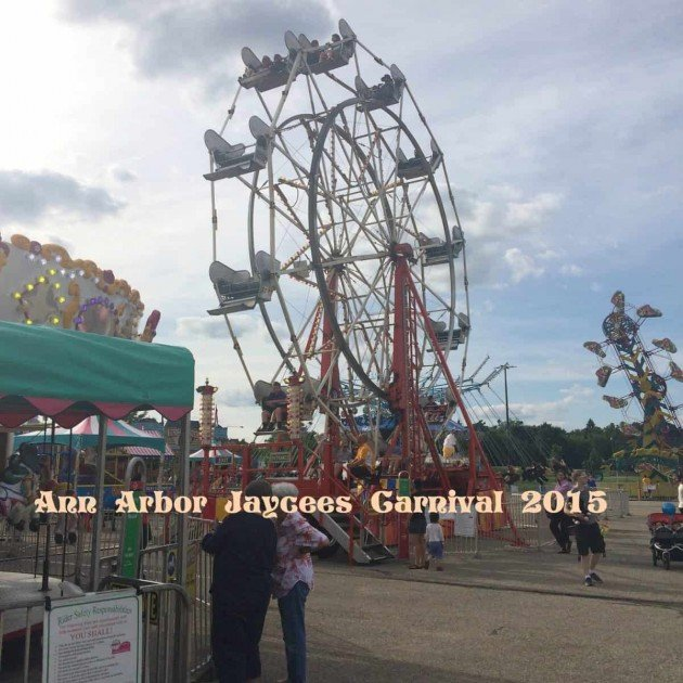 Ann Arbor Jaycees Carnival 2015 Midway