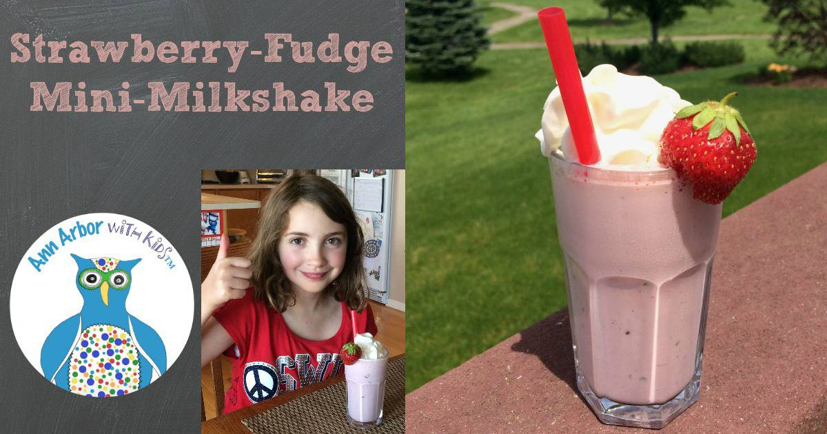 Strawberry Fudge Mini-Milkshake