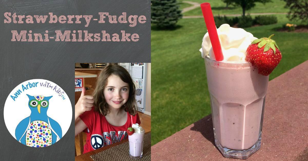 Strawberry Fudge Mini-Milkshake