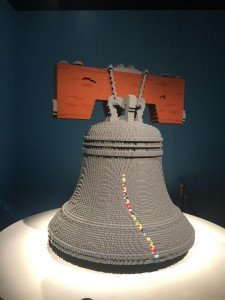 Liberty Bell in The Art of the Brick Exhibit at The Franklin Institute