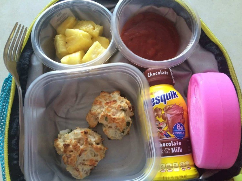 School lunch recipe: pizza biscuits in the lunch box