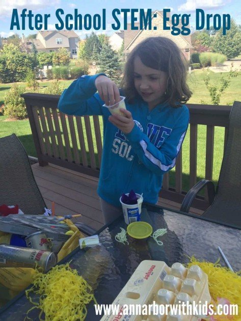 After School Minecraft Snack and Egg Drop STEM Project