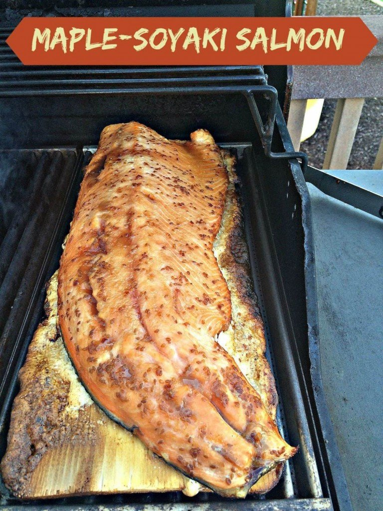 Maple-Soyaki Salmon - Cooked on the Grill