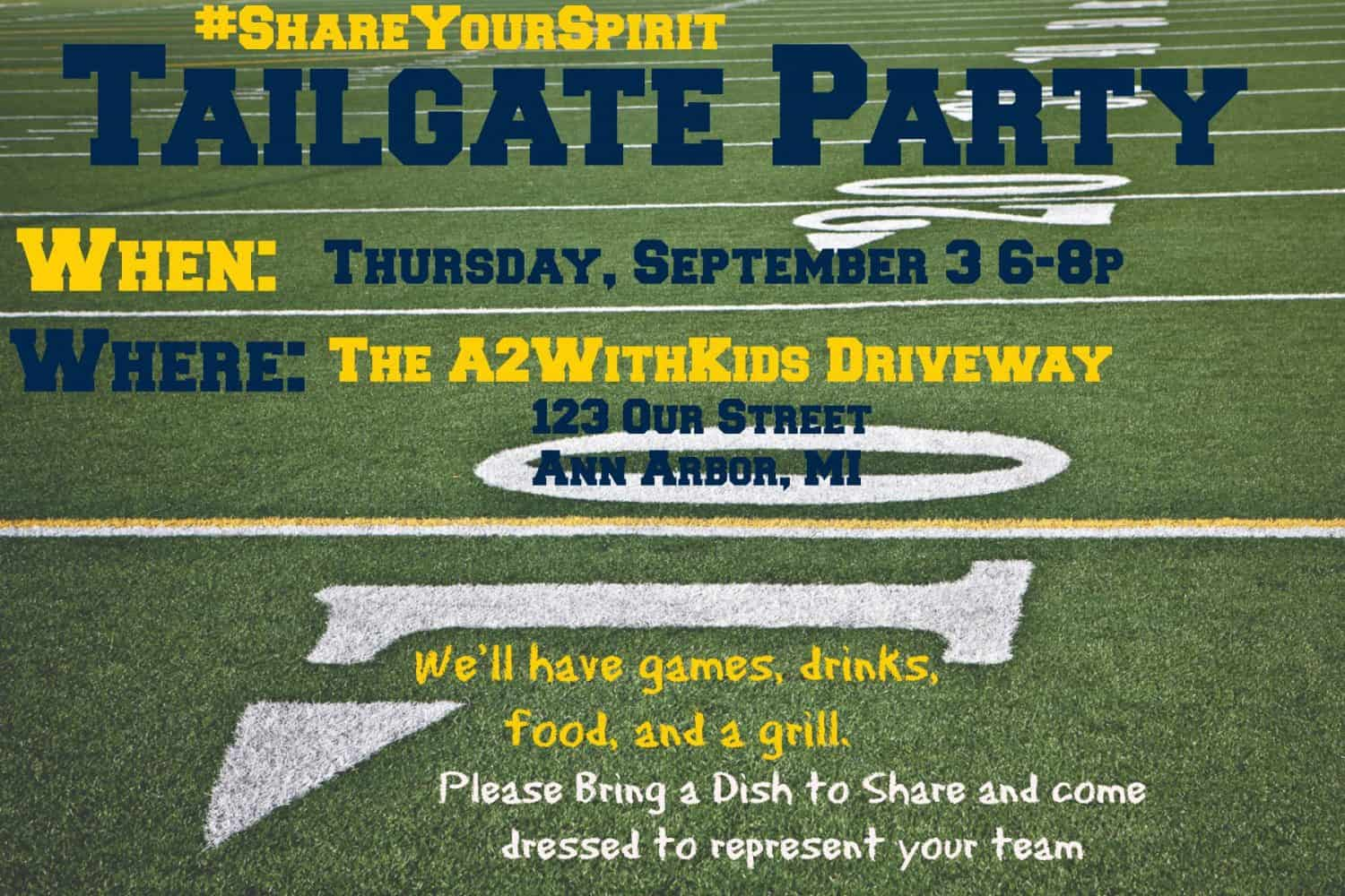 ShareYourSpirit Tailgate Invitation
