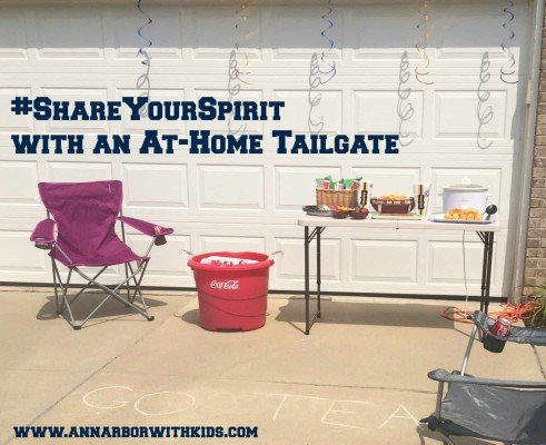 ShareYourSpirit with an At-Home Tailgate