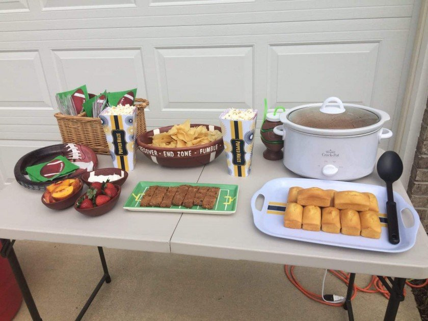 #ShareYourSpirit with an At-Home Tailgate - Food Table