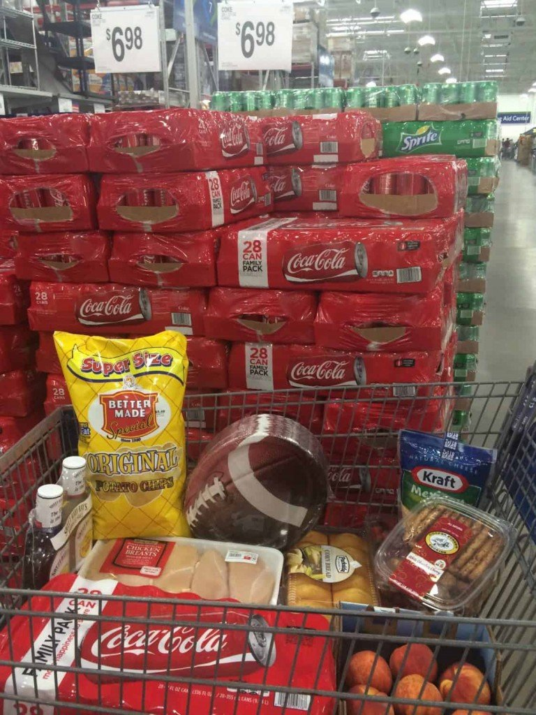 #ShareYourSpirit with an At-Home Tailgate Sam's Club Display and Cart