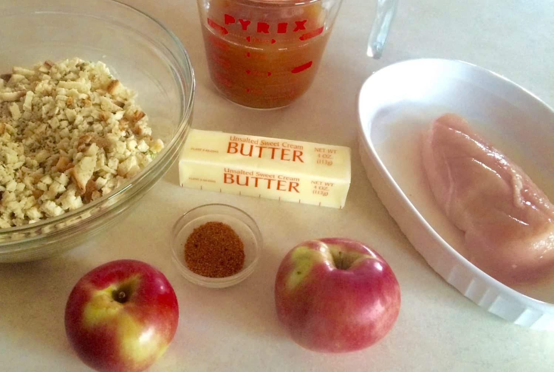 Apple Chicken Stuffing - Ingredients