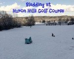 Sledding at Huron Hills Golf Course