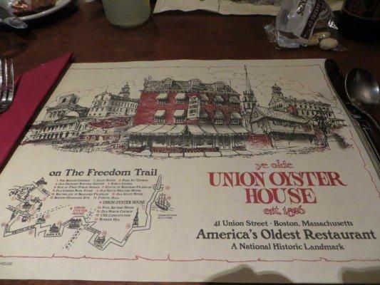 Boston Trip - Union Oyster House
