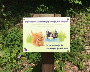Matthaei Botanical Garden - Children's Garden - Trail Sign