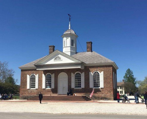 Colonial Williamsburg Courthouse - Virginia Road Trip