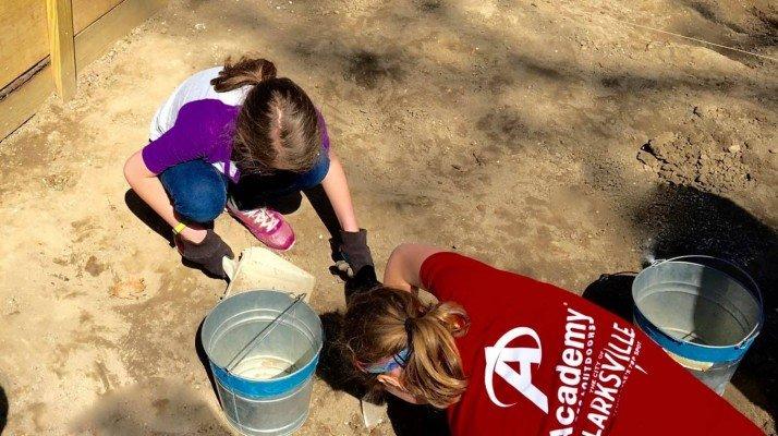 Archaeological Dig - Digging - Colonial Williamsburg - Virginia Road Trip