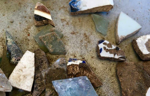 Archaeological Dig - Ceramic Finds - Colonial Williamsburg - Virginia Road Trip