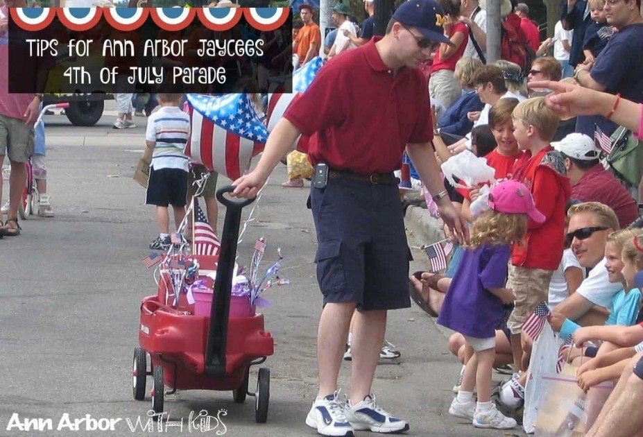Ann Arbor Jaycees Fourth of July Parade - Handing out Candy