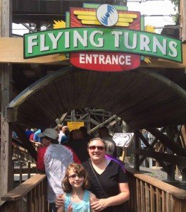 Knoebels - Flying Turns with Mom