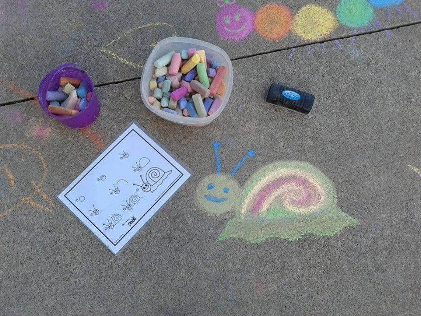 Sounds & Sights Chalk Art