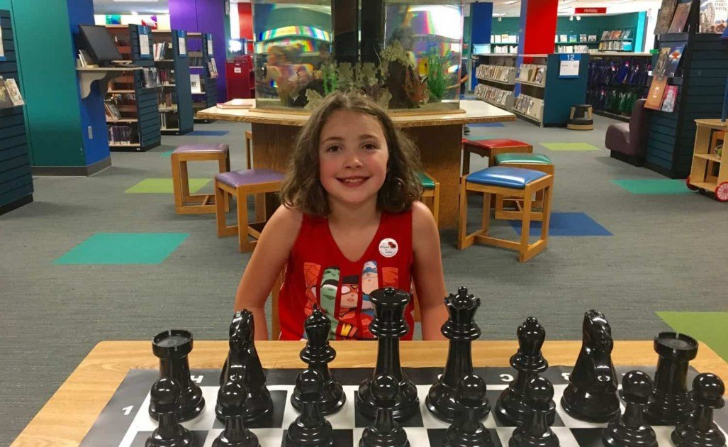 Visiting AADL - Playing Chess Downtown