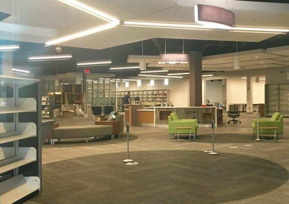 AADL West Branch Renovations - Checkout Area